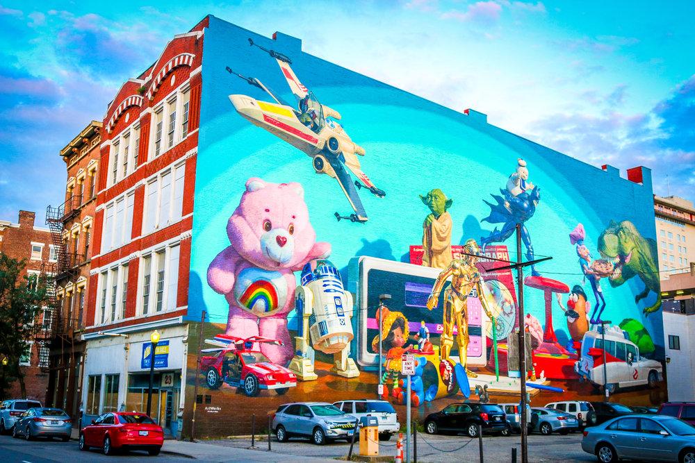 80s toys murals mural cincinnati ohio