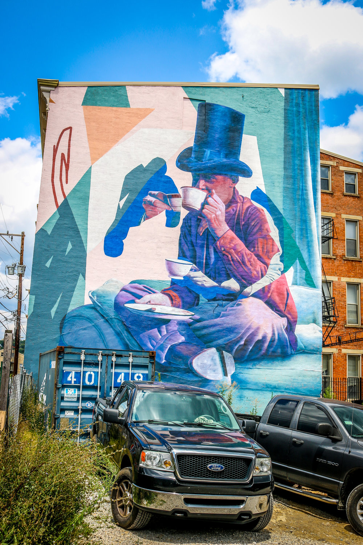 tea man mural Cincinatti Ohio
