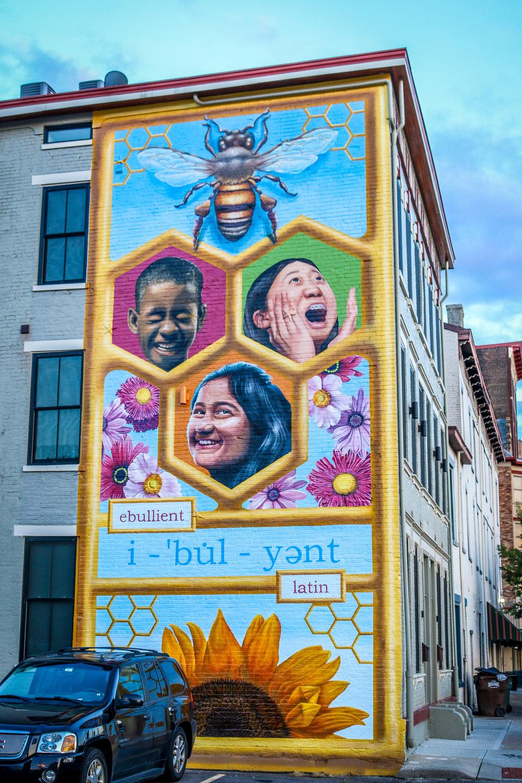 cincinnati mural honey comb