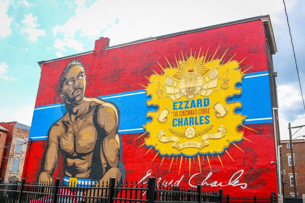 boxer cincinnati mural ezzard charles