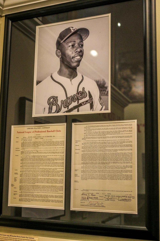 Hank Aaron's Original Contract