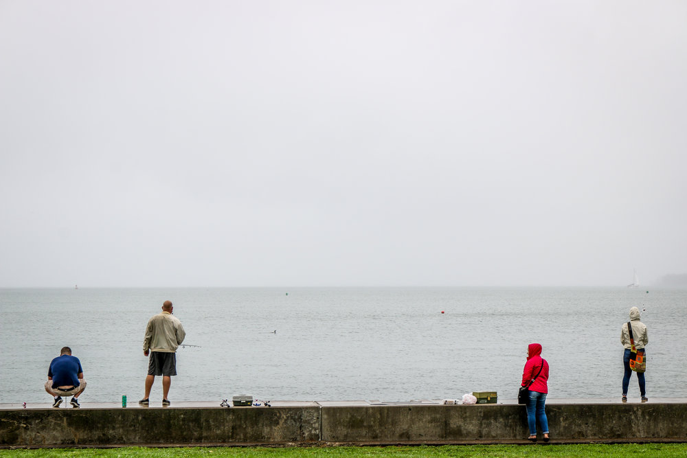 Fishing From The Seawall
