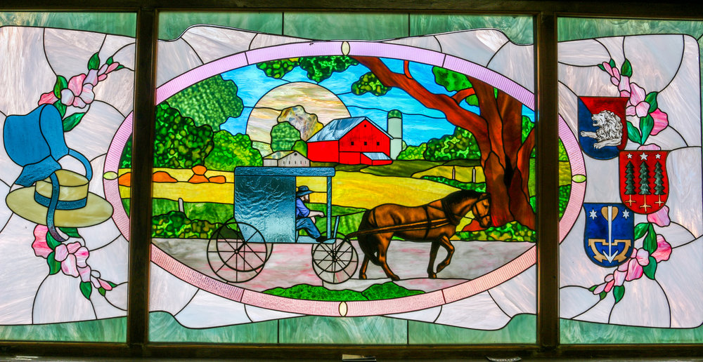 Amish Country stained glass Ohio Heini's