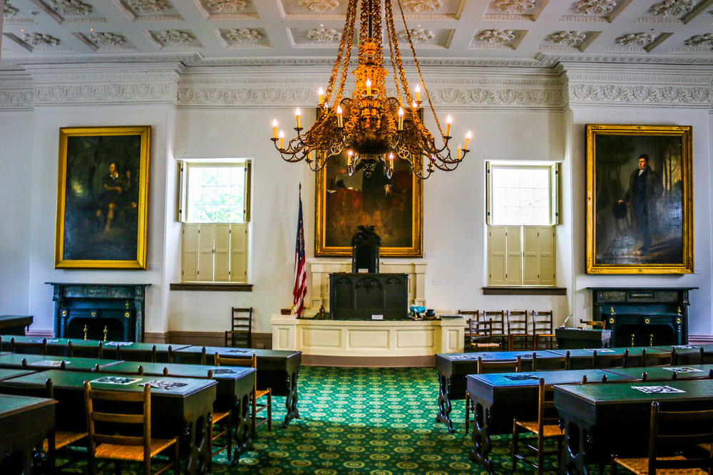 Inside the Old State Capitol House Chamber