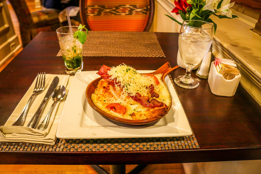 Hot Brown and a Mint Julep - YUM!