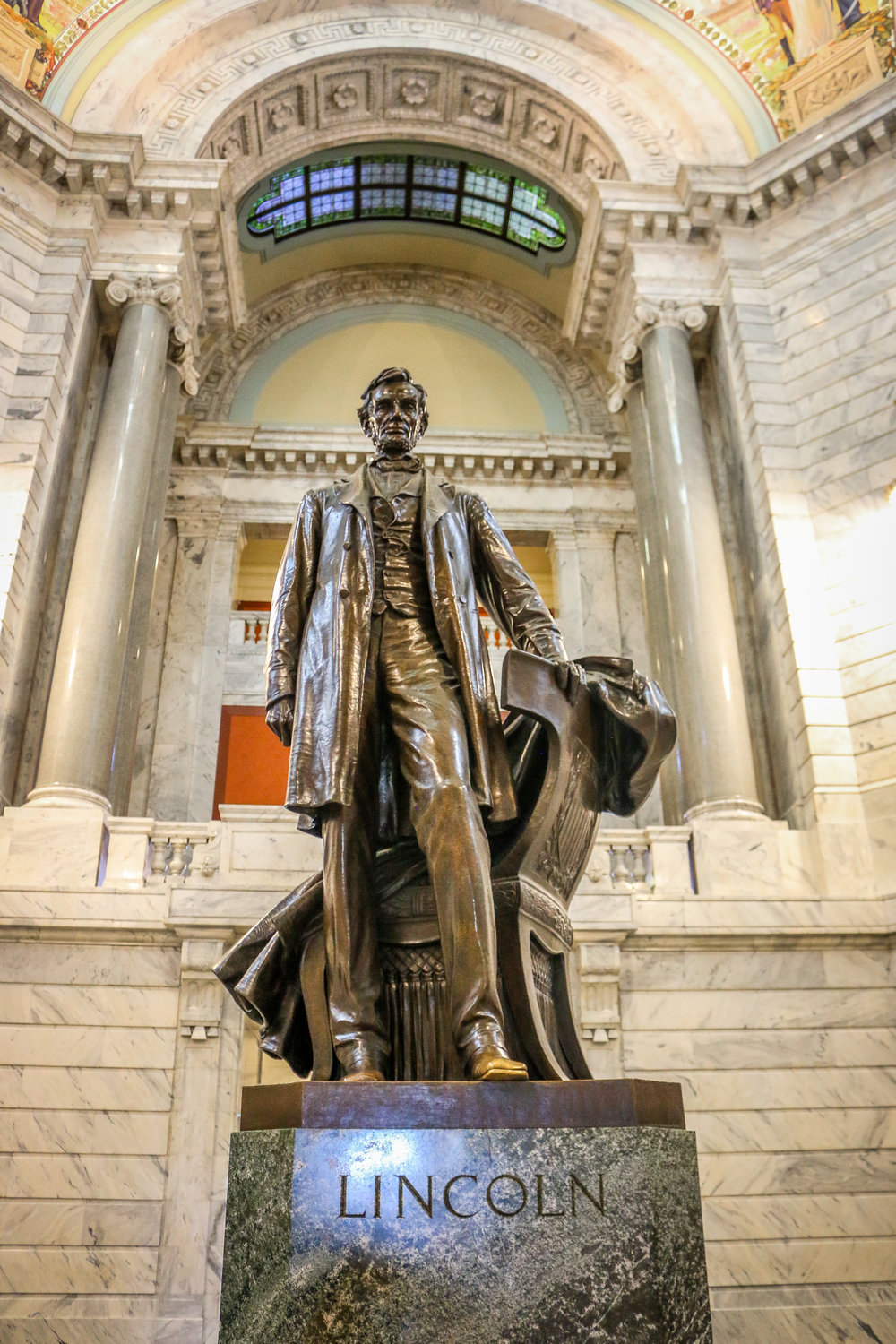 Abraham Lincoln in the Center