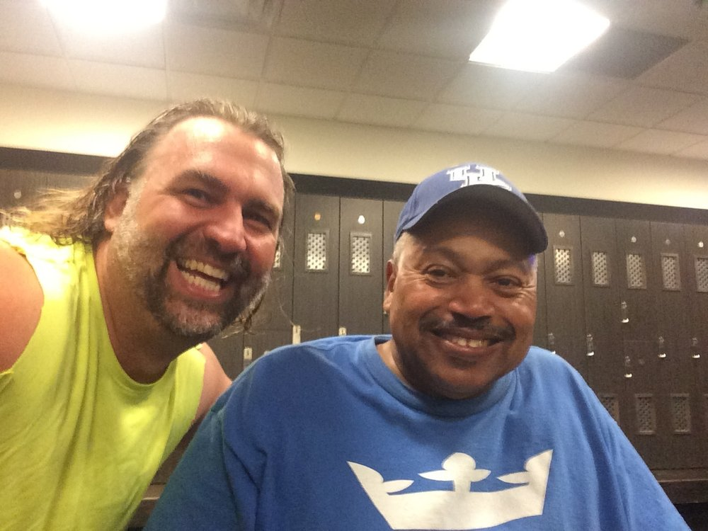 Bill and I at the Gym