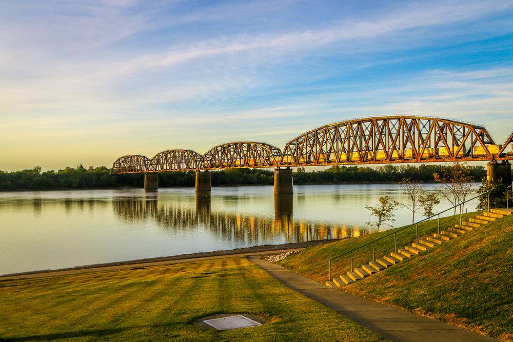 Train Bridge Over the Ohio River