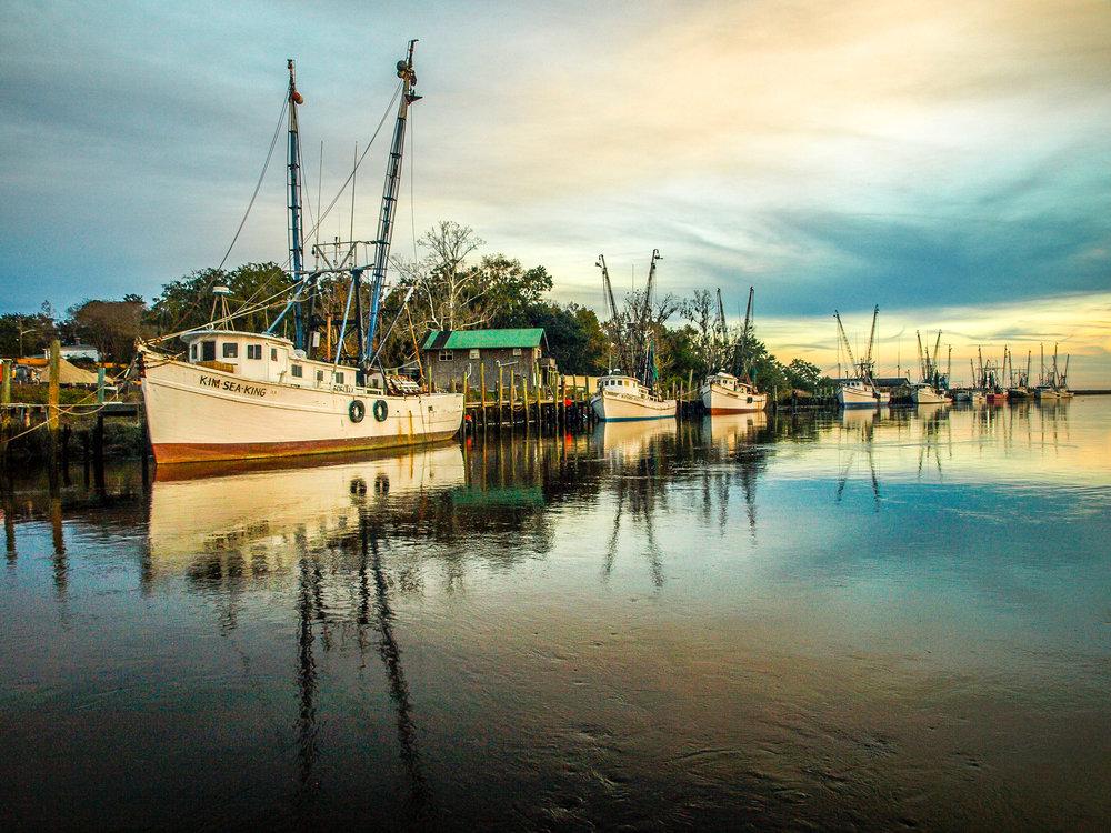 Shrimp Boats in Dock