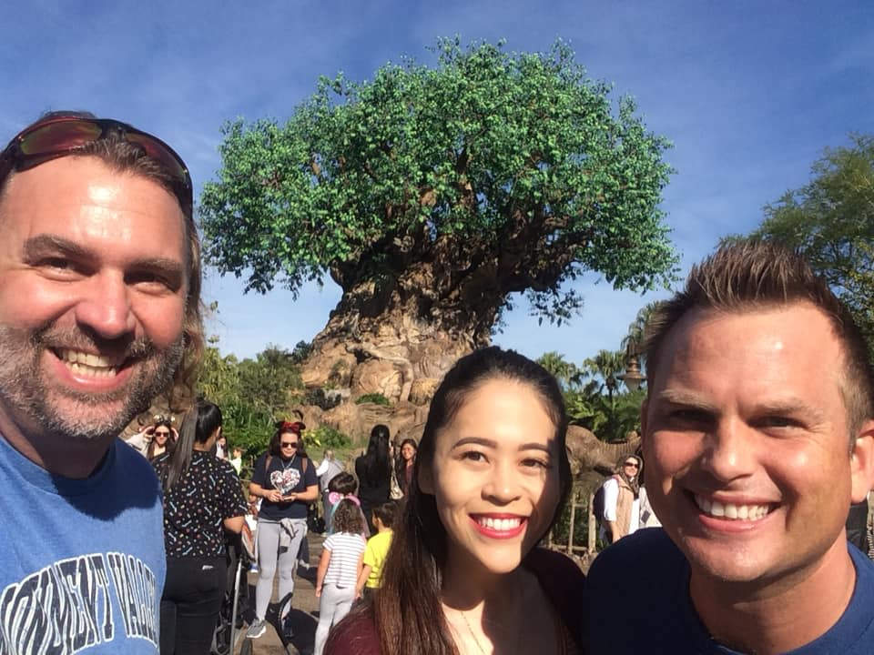 Peter and Aya and I at Animal Kingdom