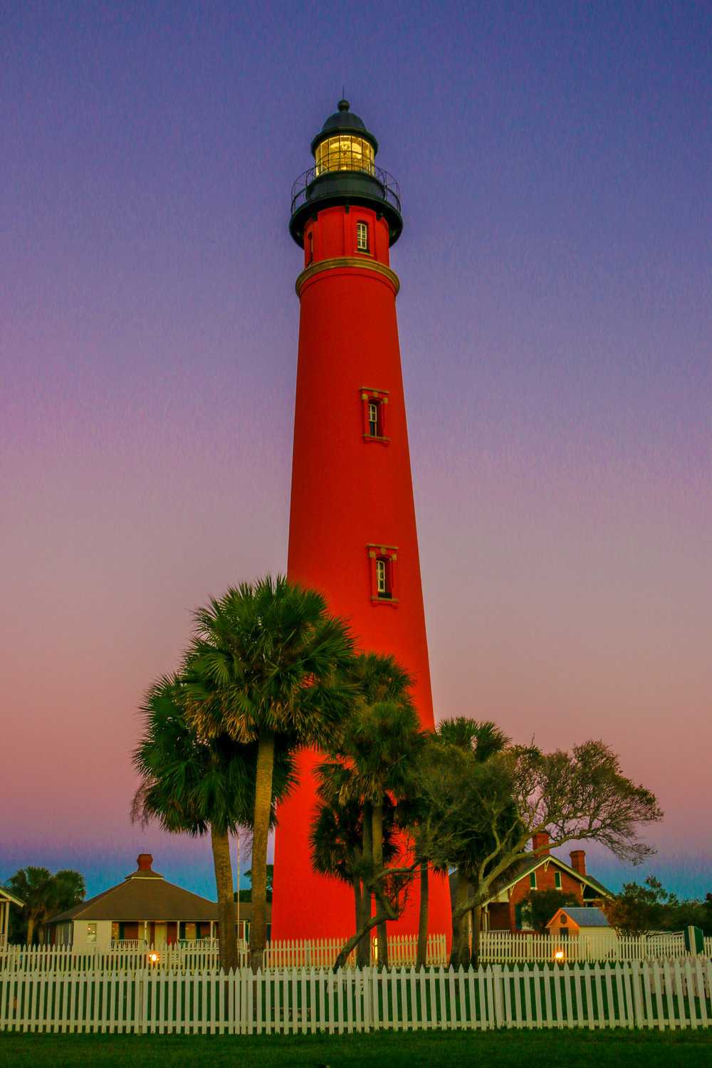 Ponce Inlet Lighthouse at Dusk