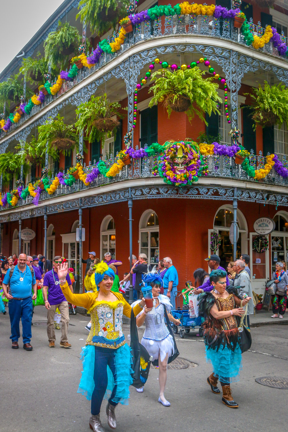 Mardi Gras Friday in the Quarter