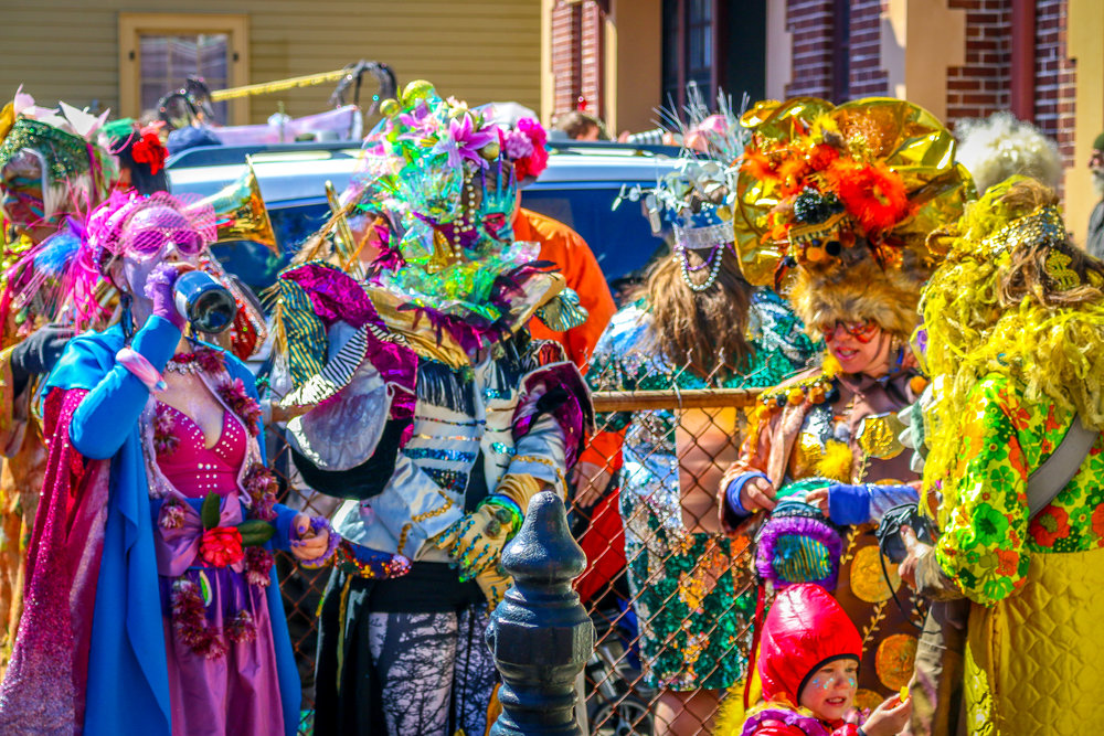 Costumes at the St. Anthony Ramblers Parade