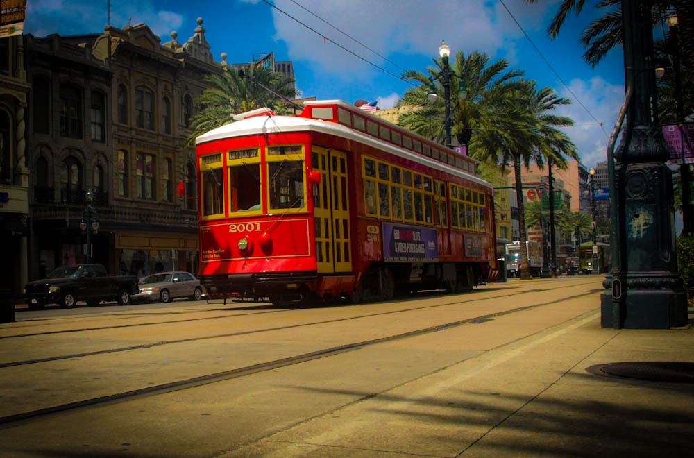 New Orleans Streetcar on Canal St.