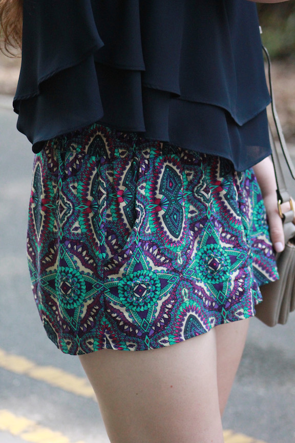colorful printed summer shorts