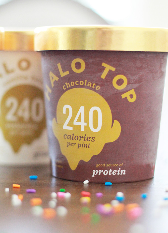 Halo Top healthy, high protein chocolate ice cream