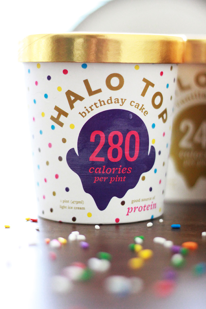 Reach your New Years goals without giving up your favorite sweet treats with Halo Top all-natural ice cream
