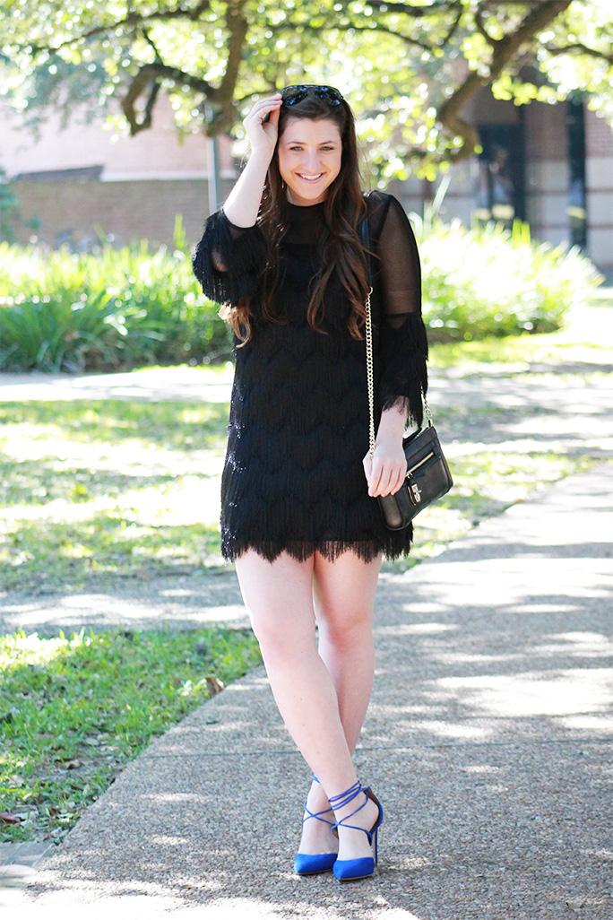 Alexis fringe cocktail dress