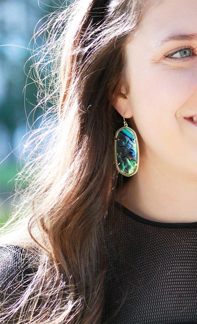 Alexis chevron fringe dress with Kendra Scott Danielle earrings