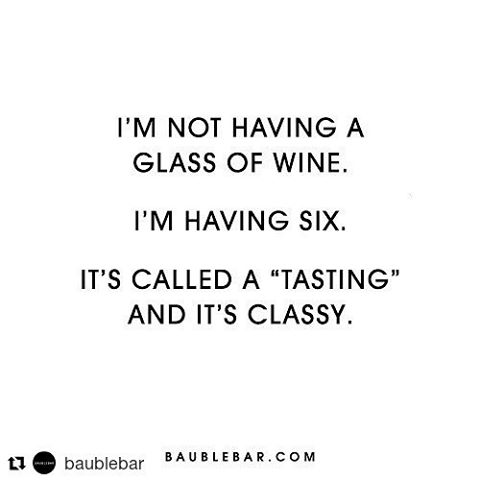 They get it.  #Repost @baublebar with @repostapp ・・・ Classy AF, to be exact.🍷 #baublebar