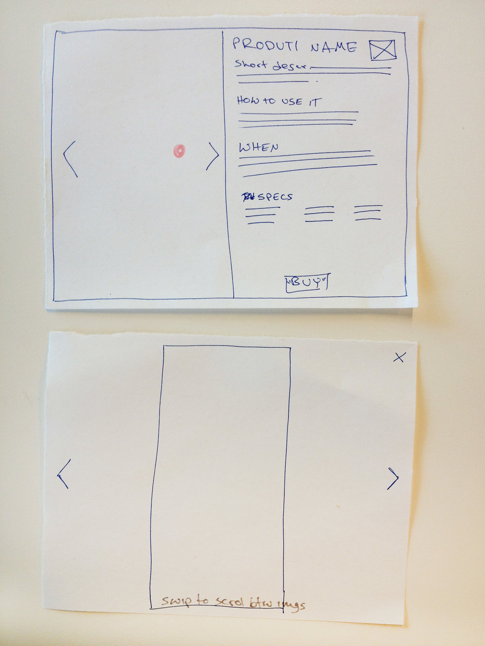 First round wireframes