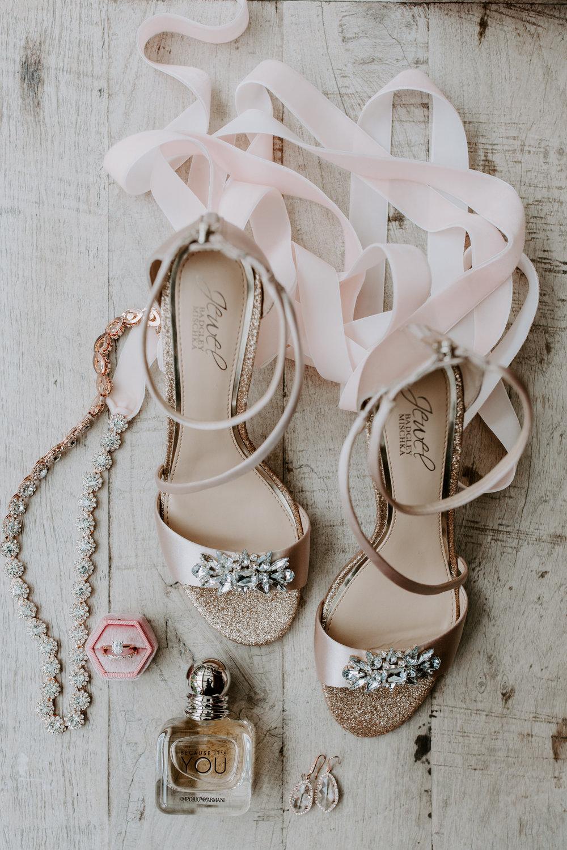 Rustic Bloom Photography | Rustic Woodland Wedding Inspiration | Wedding Shoes