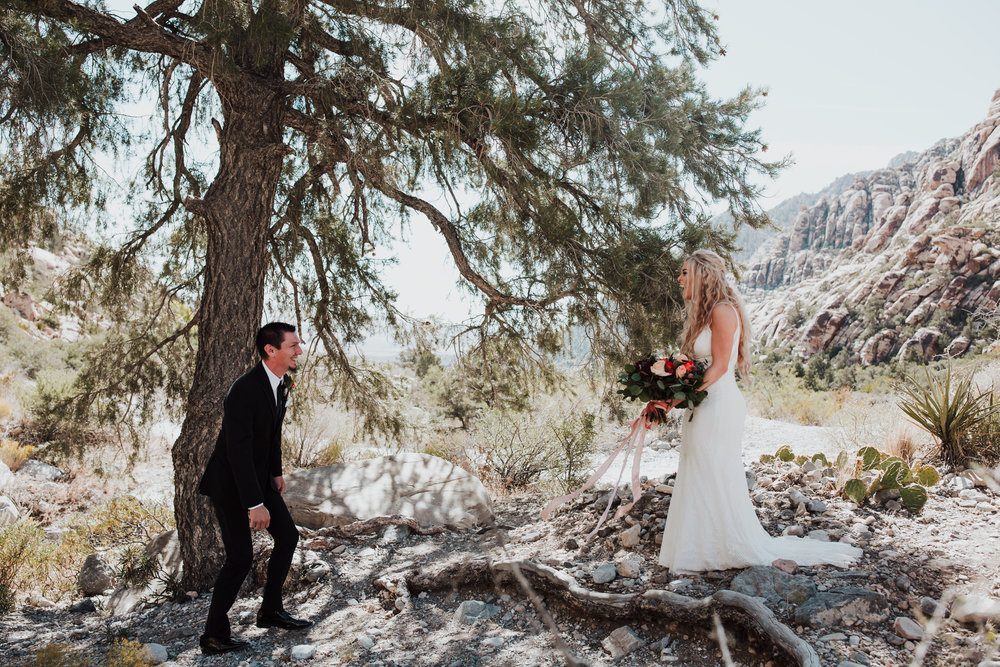 Rustic Bloom Photography | First Look Wedding Inspiration