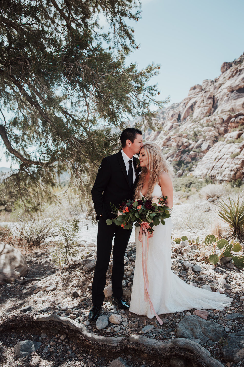 Rustic Bloom Photography | Bride + Groom Desert Elopement