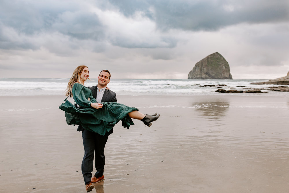 Rustic Bloom Photography | Oregon Coast Engagement Session | Pacific City, Oregon