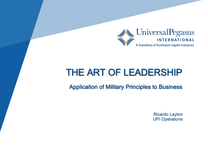 Art of Leadership Application of Military Principles to Business