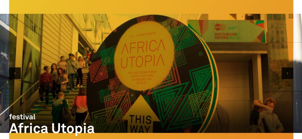 Event copy for  Africa Utopia  festival