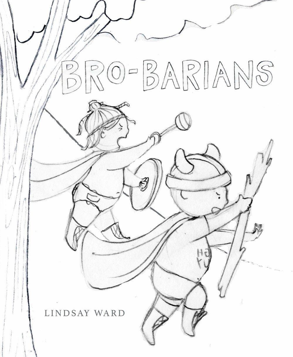 Brobarians  Cover Sketch 2