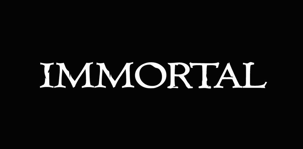 immortal (white on black)