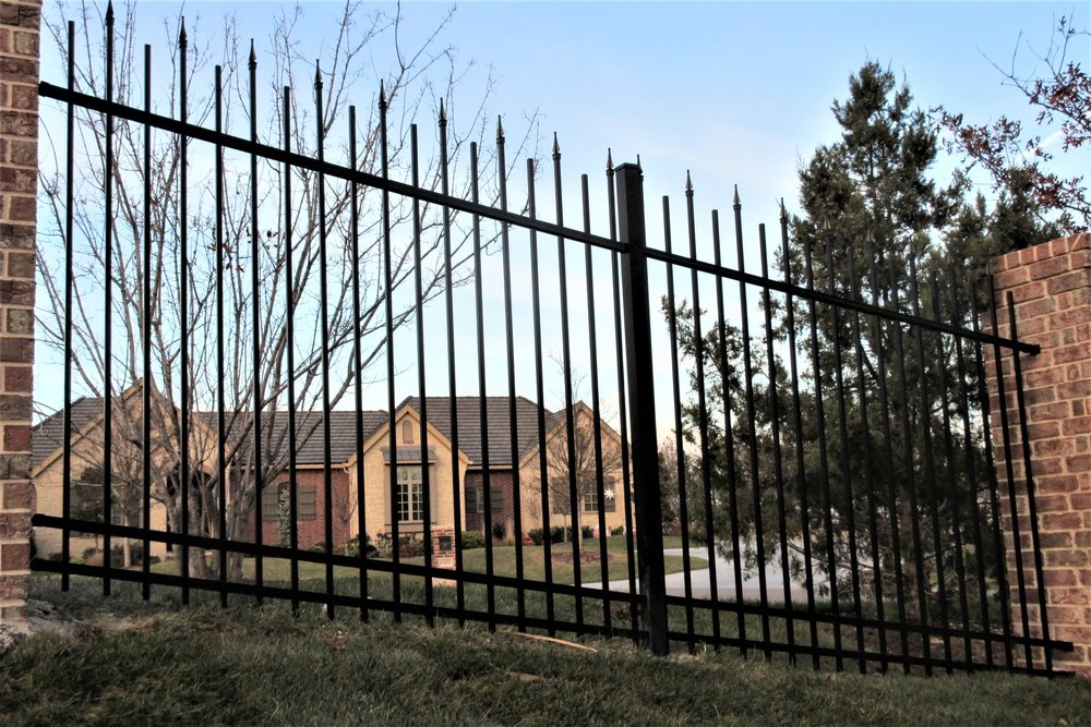 Residential-Ornamental-Iron-Fence-Wichita-KS