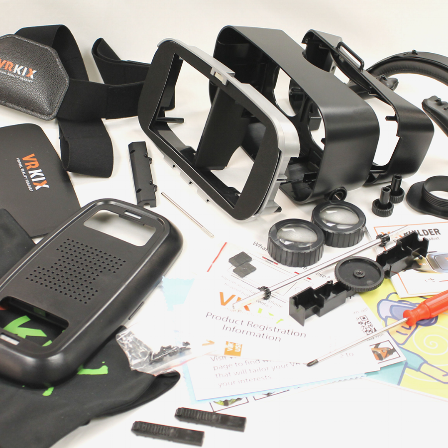 Build you virtual reality headset with our D.I.Y. Kit. Get creative with paint techniques before you assemble.