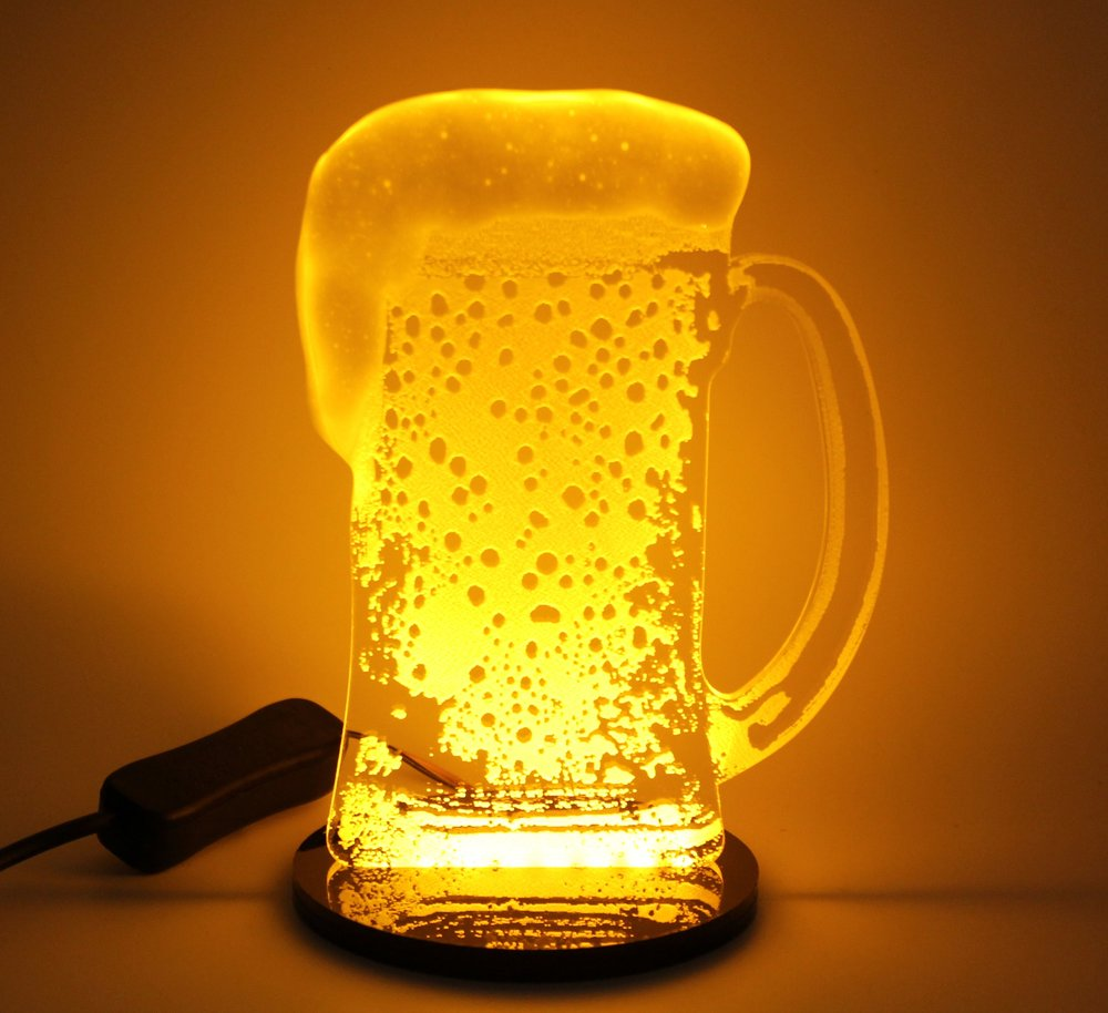LED Beer Light with realistic foamy head