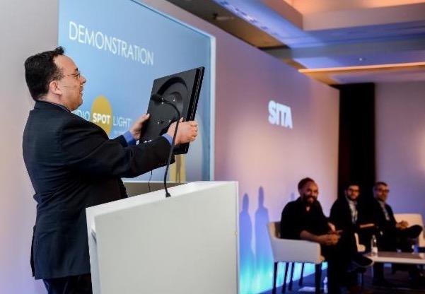 Dr. F. Joseph Pompei demonstrates Audio Spotlight at the summit in Budapest