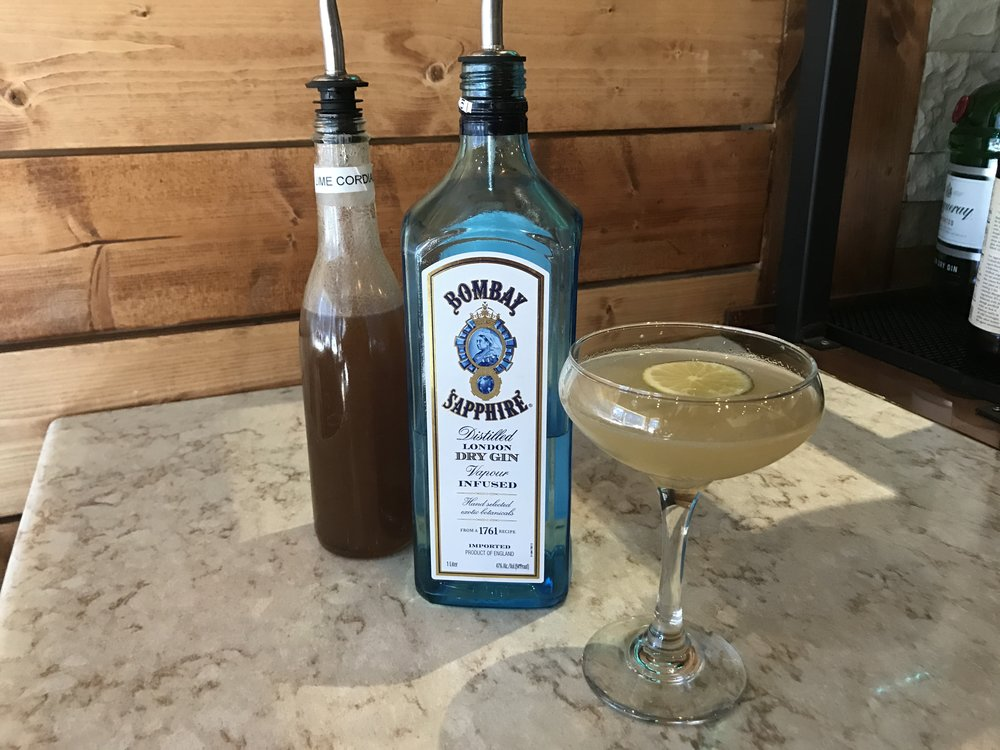 Bombay Gimlet $9 Bombay Sapphire House-Made Lime Cordial