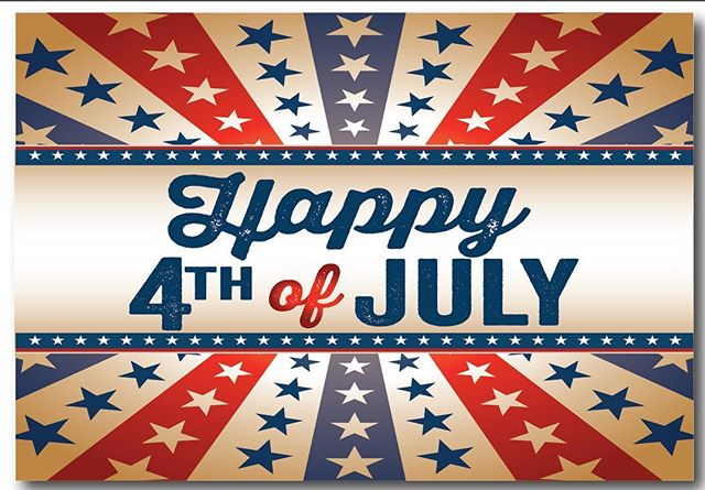 We will be closed on the 4th and the 5th. #happyindependenceday #enjoy