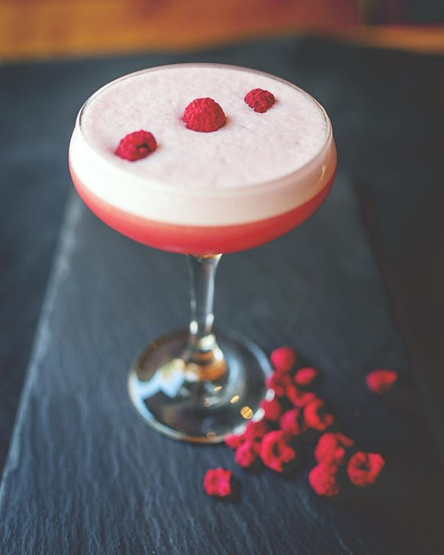 Anarkali made with pomegranate liqueur, @absolutelyx, and house made syrups. @newhavencocktailweek starts tomorrow checkout all the participating bars and their crafted creations. #craftedcocktails #newhaven #nhv #yale #connecticut