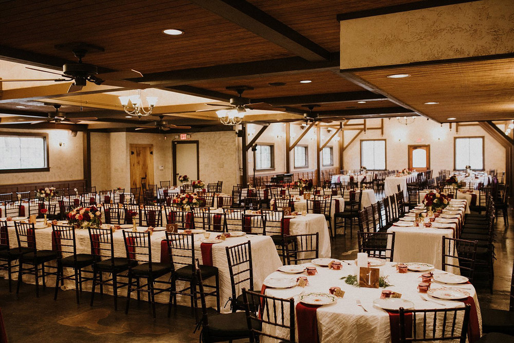Hollow Hill Farm Event Center Wedding reception
