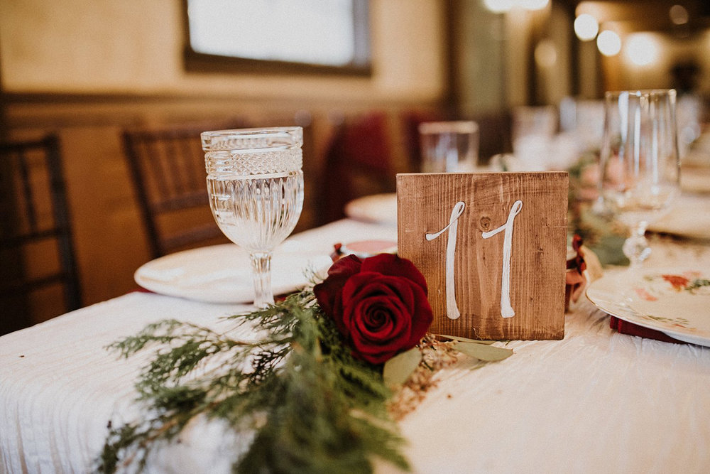 Hollow Hill Farm Event Center Wedding wood table