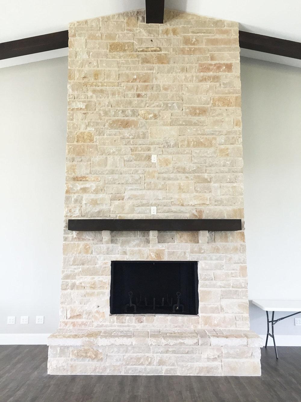 Dove Ridge Vineyard reception space fireplace
