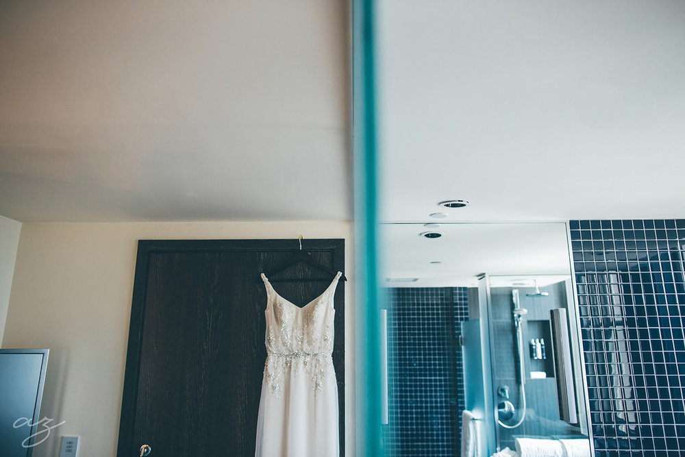Wedding dress at the Joule hotel
