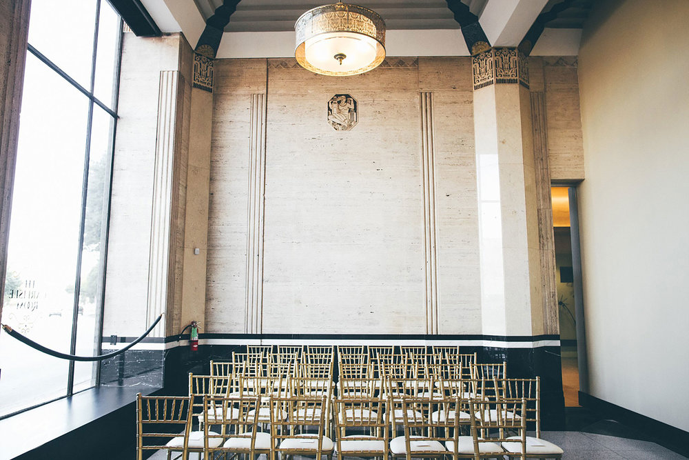 Carlisle Room wedding ceremony chairs