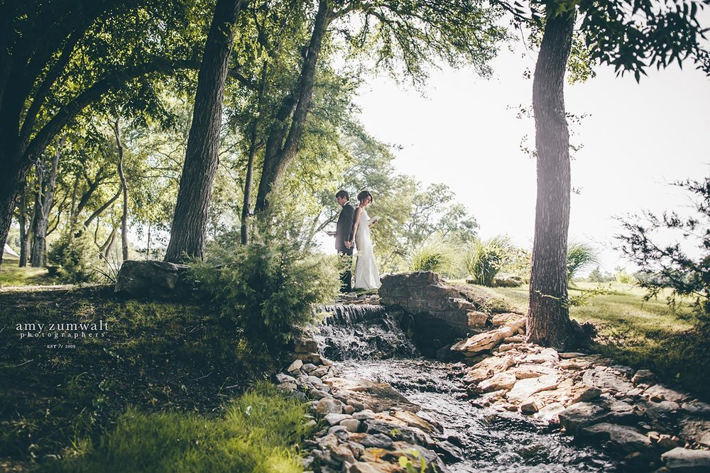 Creek at Brooks at Weatherford Fort Worth wedding venue
