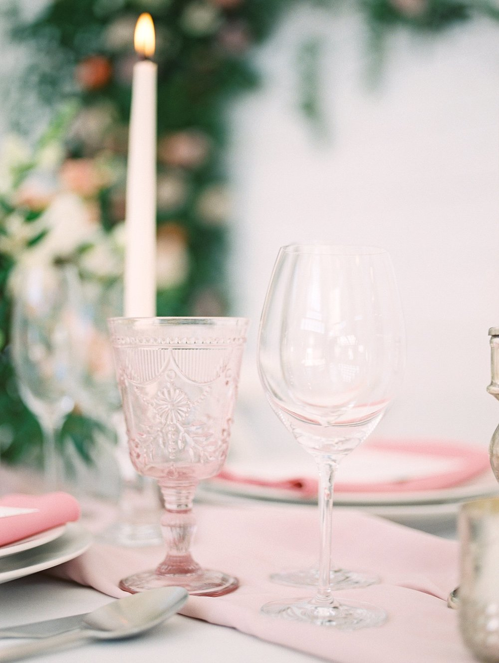 blush water goblet