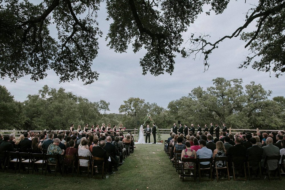 Garden grove wedding and event venue outdoor ceremony on the lawn