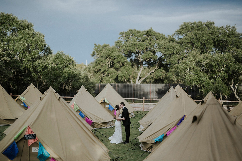 glamping at a wedding