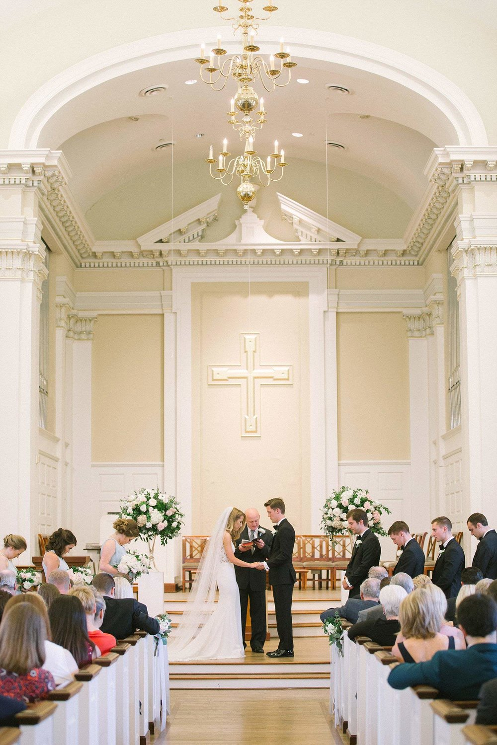 Indoor wedding ceremony in dallas texas